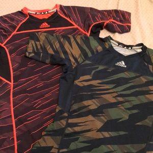 2 adidas compression shirts